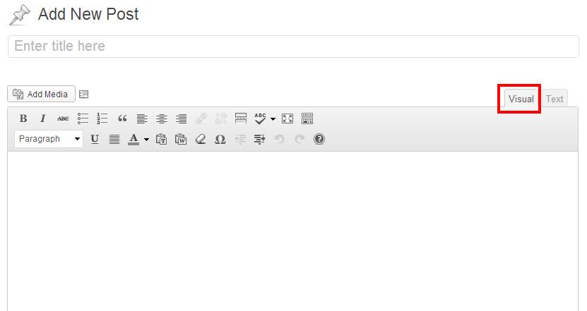 click visual tab