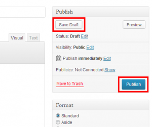 save or publish post