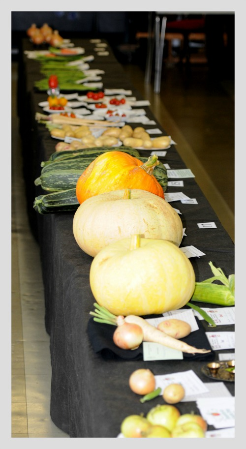 table of veg