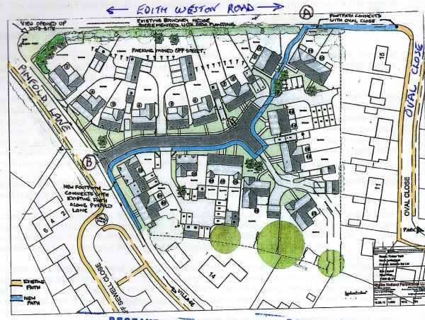 Footpath Edith Weston Rd Plan