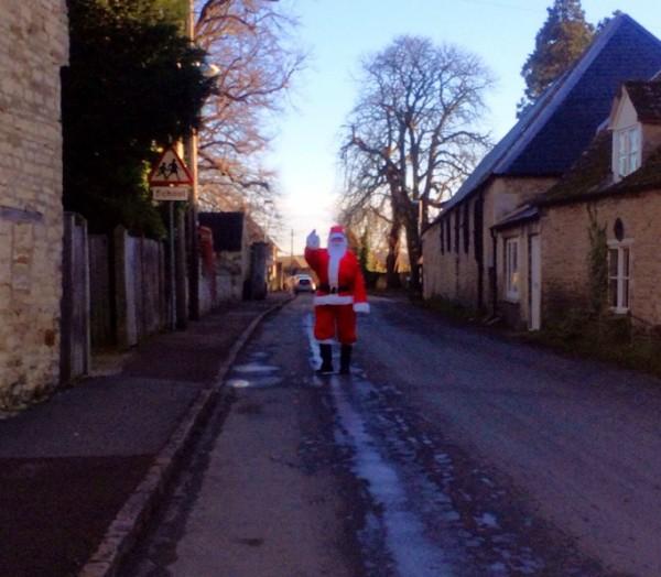 Santa in Church St