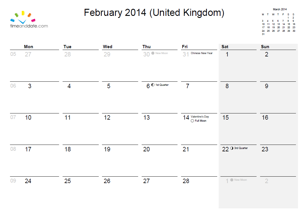 February 2014 Calendar And What S On Guide North Luffenham