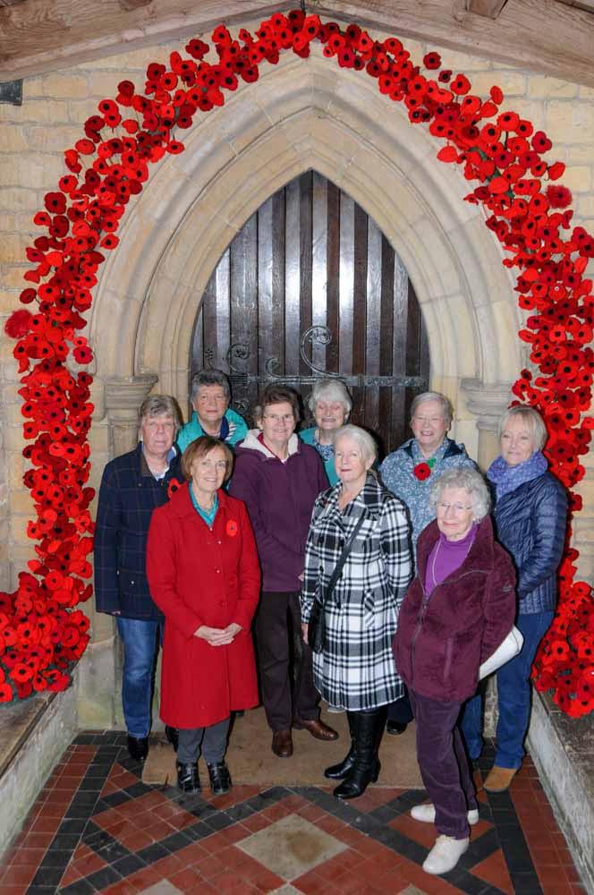 Knitted Poppy Arch North Luffenham
